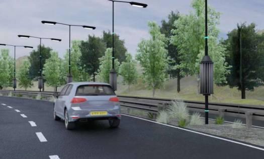 Un ingénieux système de lampadaires éoliennes alimentés en électricité grâce à l'appel d'air des véhicules