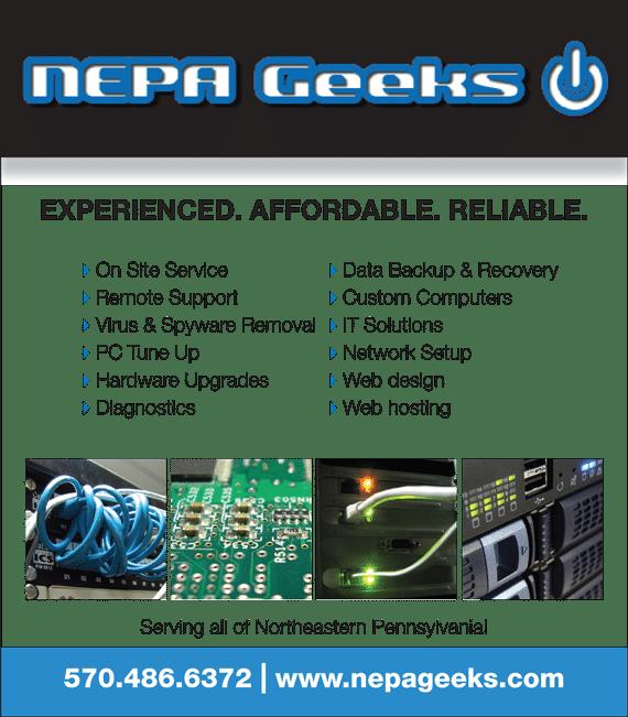 NEPA Geeks Print Ad
