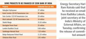 Exim Bank of India-Project