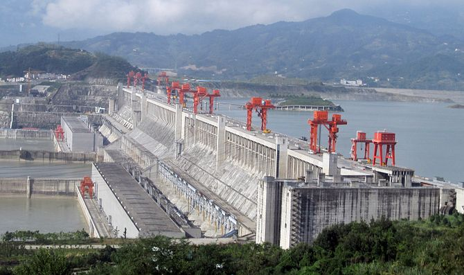 The Three Gorges Dam along China's Yangtze River is the world's largest. It came with a heavy environmental price. International Rivers, an NGO, wants the World Bank to reconsider funding of hydroelectric dams. (Photo credit: Wikipedia)