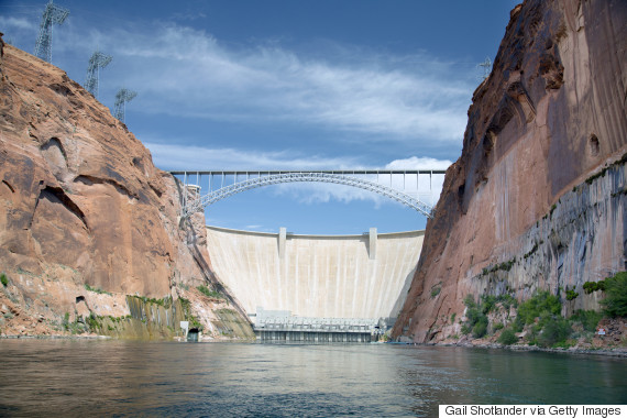 The Glen Canyon Dam on the Colorado River in Arizona.