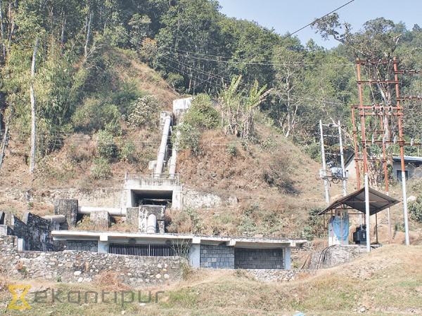 A general view of the power house of Midim Khola Micro Hydropower Project at Karaputar-2 in Lamjung on Wednesday.                Post Photo: Aash Gurung