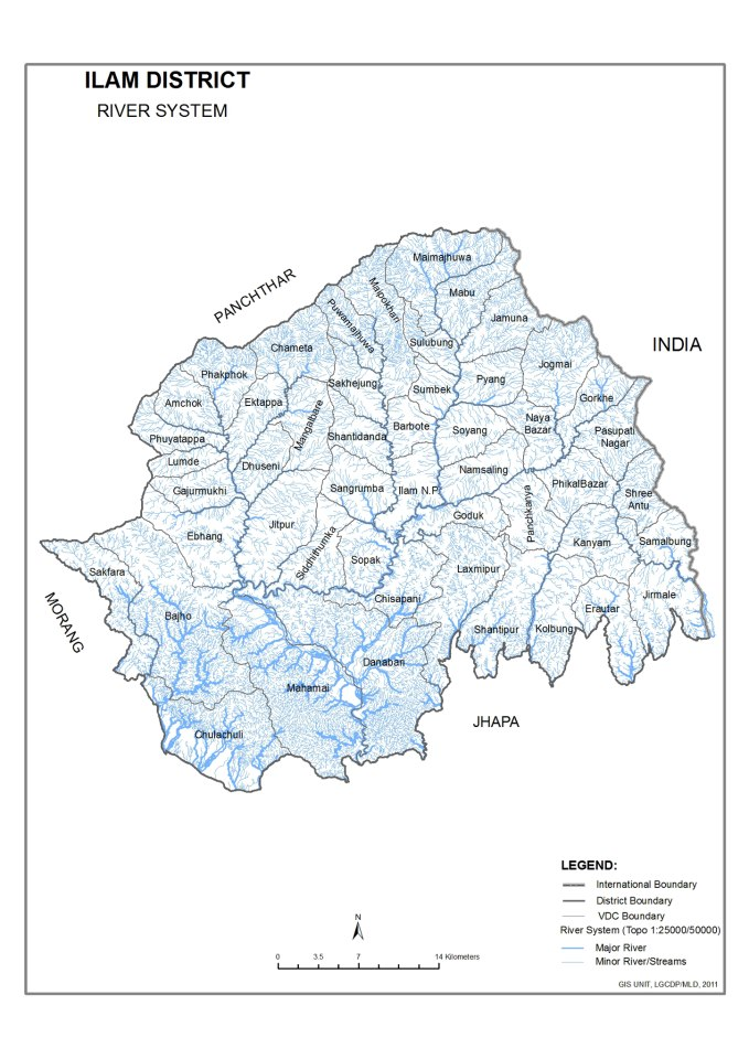 Ilam Locals Elated As Hydro Projects Construct Roads Nepal - Ilam map