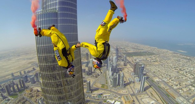 Base Jump from the top of Burj Khalifa