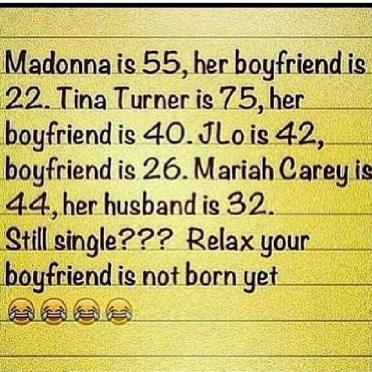 Relax girl, your boyfriend is not born yet