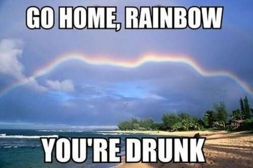 Go Home Rainbow – You are drunk!