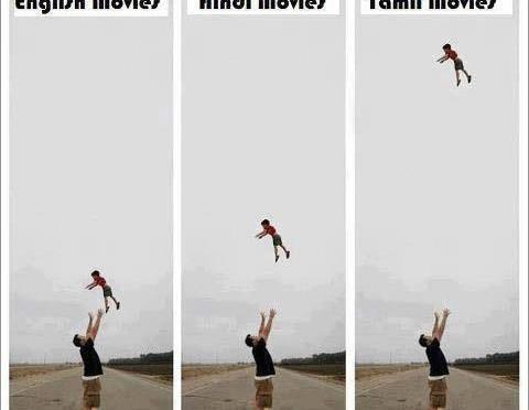 English Movies vs Hindi Movies vs Tamil Movies