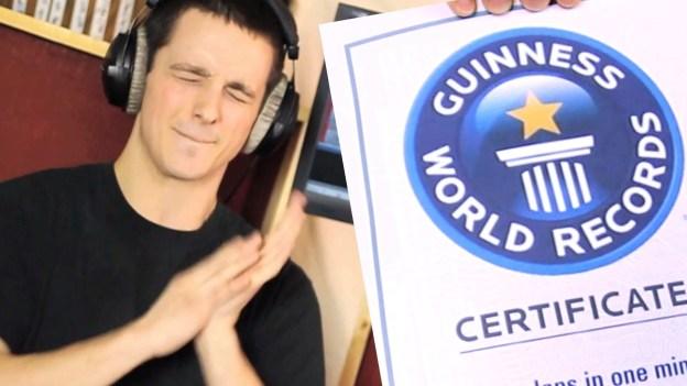 Fastest Clapper – 804 in 1 minute – World Record