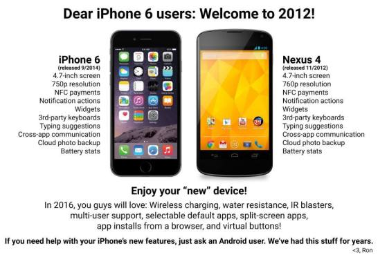 Everyone waiting for iPhone 6 – welcome to 2012!