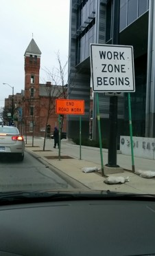 Shortest work zone ever!