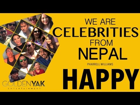 HAPPY WE ARE CELEBRITIES FROM NEPAL