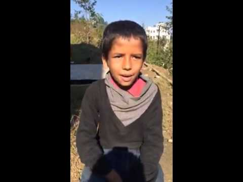 Nepali Kid shows his reaction to Politicians and Society in his own way