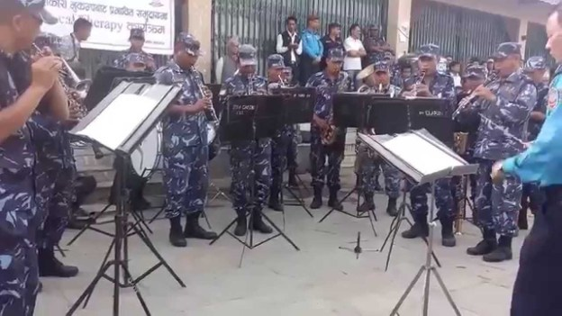 Nepal Police Performs Gangnam Style Intrumental For Earthquake Victims Of Nepal