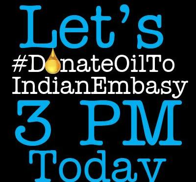 Trending On Top: #DonateOilToIndianEmbassy Campaign