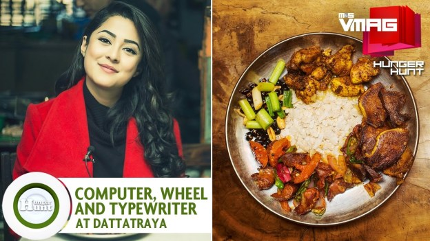 HUNGER HUNT: Computer, Typewriter, Wheel at Dattatraya Khaja Ghar