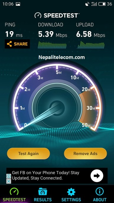 Ncell 4G speed test 1