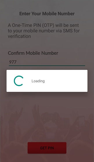 Register Ntc music Nepal app get pin