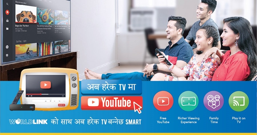 Worldlink's new offer, Smart TV with YouTube for every home