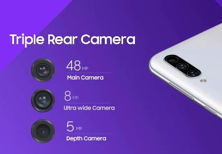 Samsung A50s camera