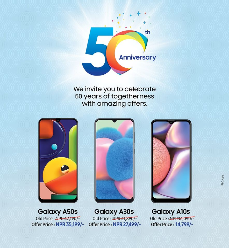 samsung 50th anniversary offer