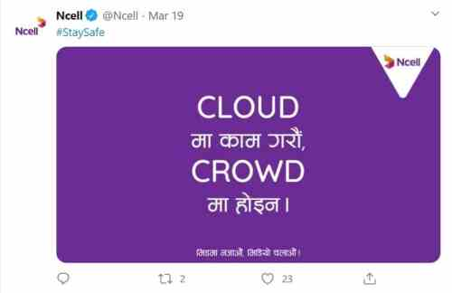 Ncell corona virus Cloud