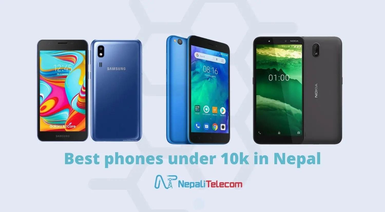 Best phones under 10000 in Nepal