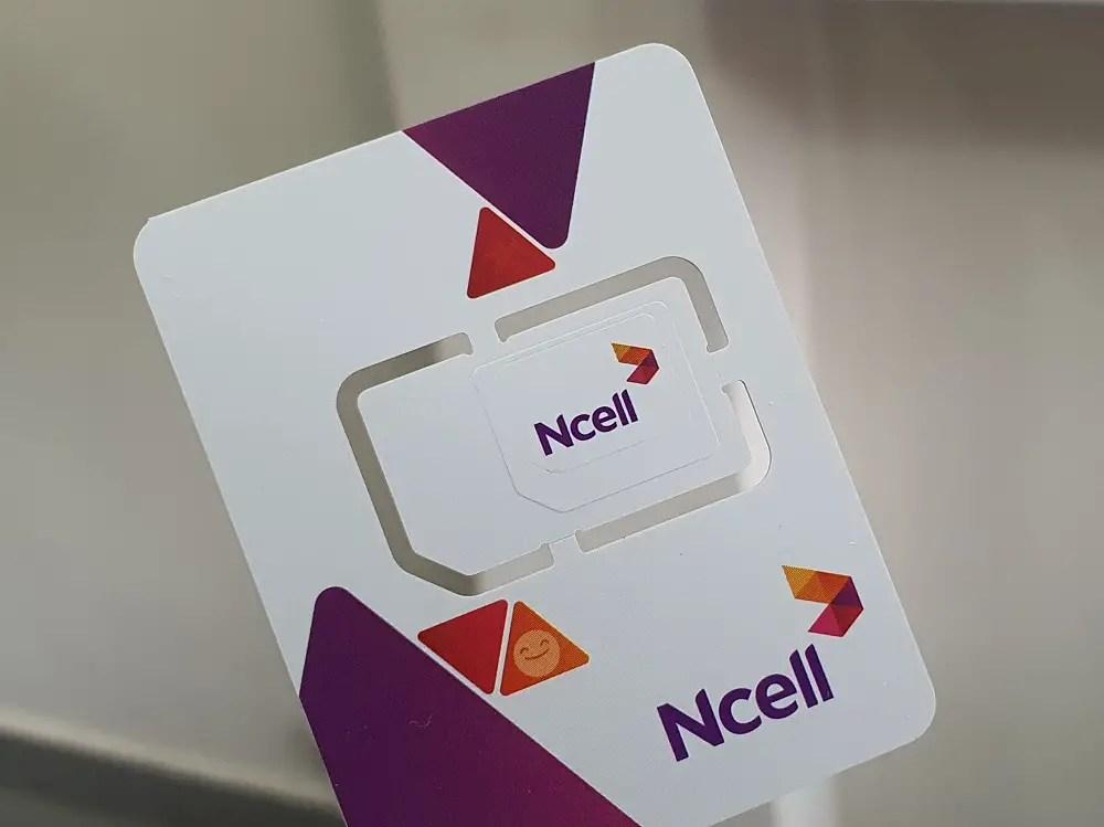 Ncell SIM card