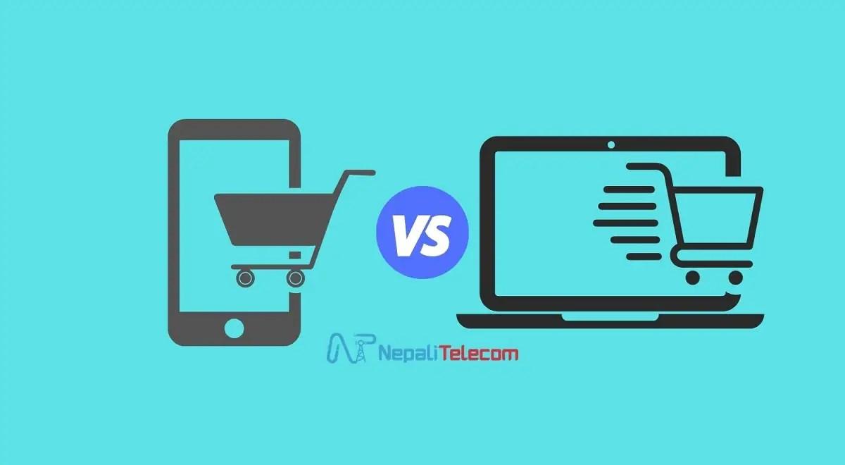 online shopping over Mobile vs Desktop