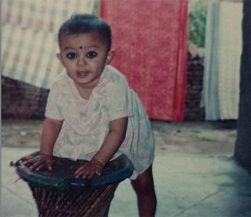 Riya Basnet Childhood