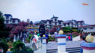 White monastery - hiking place in Kathmandu