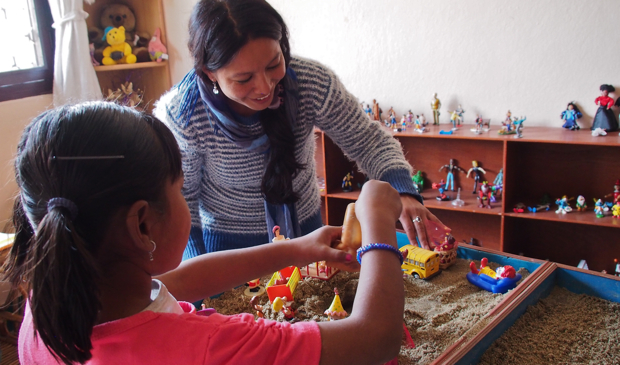 Sand play therapy at Ankur Counseling Center