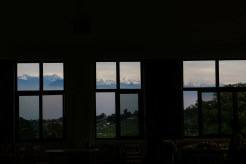 View from OLGAPURI Dining Hall on clear Day