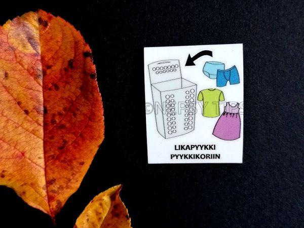 Nepsy Tips lapsen toiminnanohjauksen tukemiseen suunniteltu magneettinen kuvatukikortti Laita likapyykki pyykkikoriin.