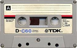 An old TDK C60 cassette tape!