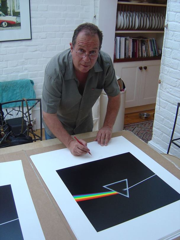 """Aubrey """"Po"""" Powell from Hipgnosis Signing Darkside Cover Art"""