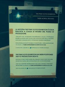 Original postponment notice now becomes cancellation for Pink Floyd Exhibition [pic: Cymbaline.it ]