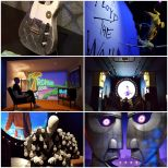 A Collage of Pink Floyd Their Mortal Remains Exhibition