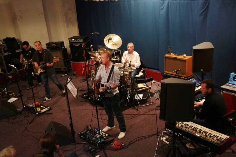 Nick Mason rehearsing with his Saucerful of Secrets band
