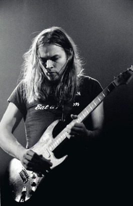 David Gilmour with Black Strat guitar