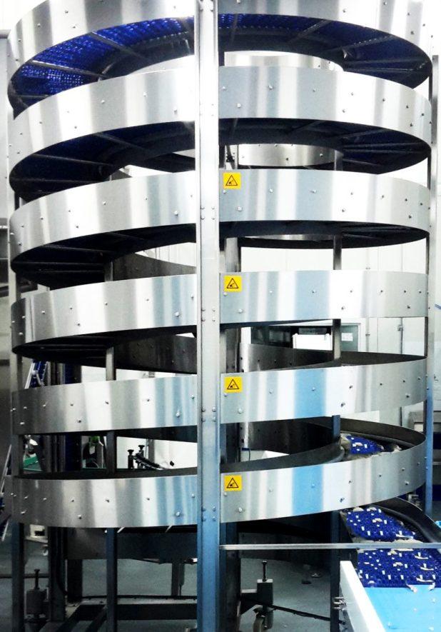 Spiral Elevators for Food Applications | Spiral Conveyor for Food