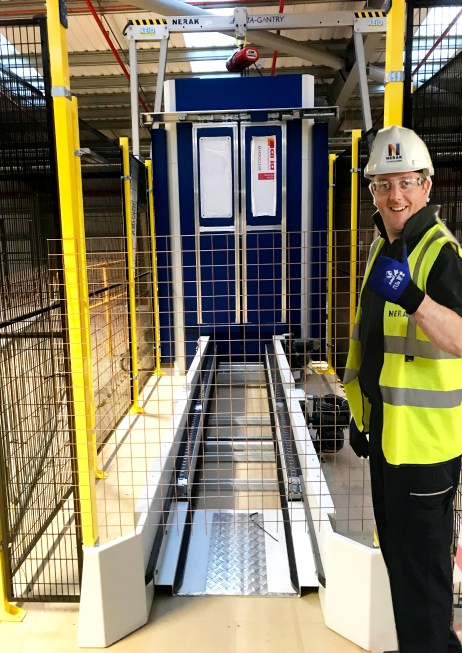 Colin Watkins our Engineering Manager gives the Thumbs Up during an install on site