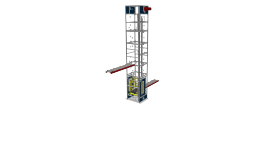 Single Reciprocating Hoist with Single Carriage