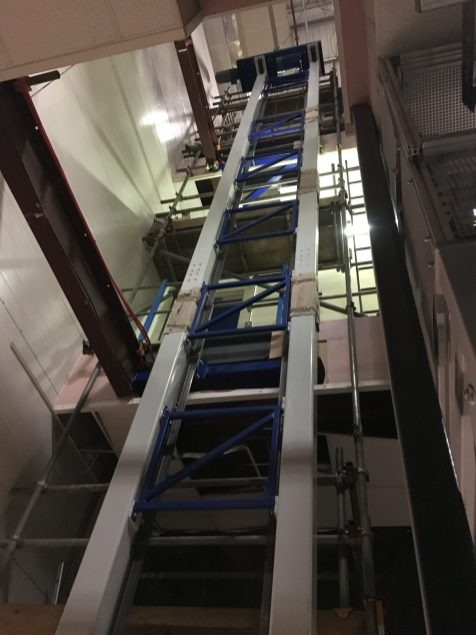 Installation Photo of the Lift Structure