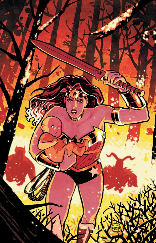 Wonder Woman #18 Cliff Chiang cover with Zola's baby