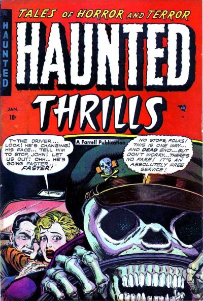 "The cover of an issue of ""Haunted Thrills"""