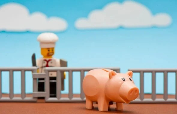 chef and lego pig
