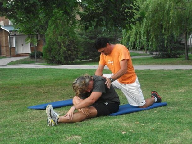 personal trainer stretch