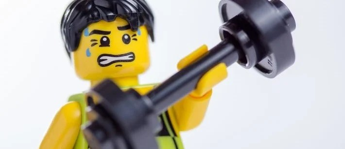 This Lego has found his perfect workout.