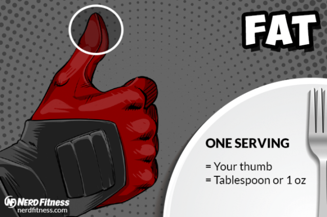 A serving of fat should be about your thumb!