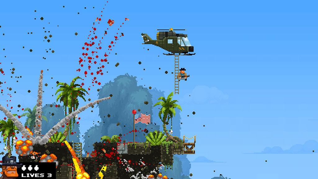 broforce gameplay screen